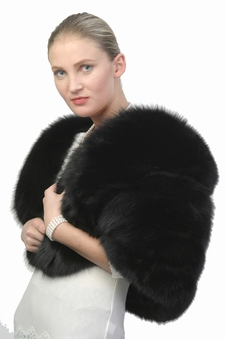 Fur Cape - Black Fox Fur Cape