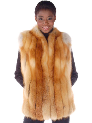 Fur Vest - Natural Red Fox