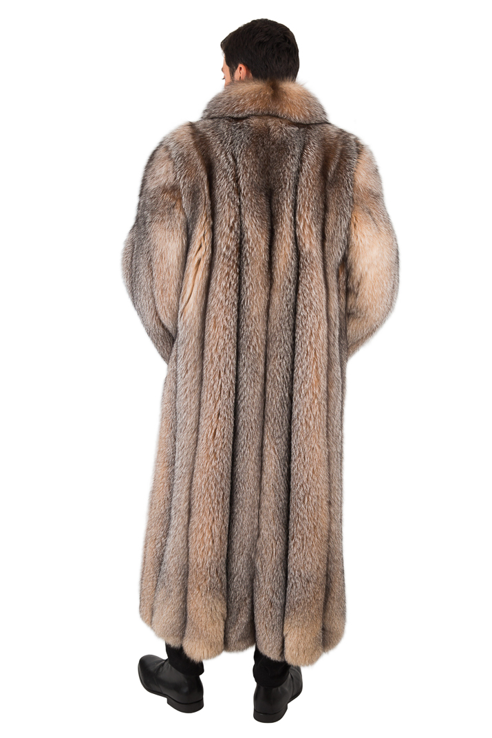 Mens Crystal Fox Coat - Mens Fur Fox Coat