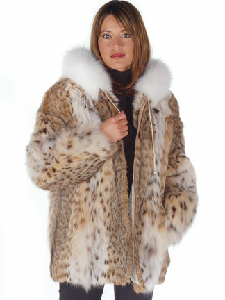 Lynx Fur Jacket - Hooded Lynx Fur Parka