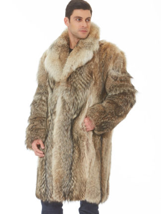 Men's Coyote Coat - Notch Collar