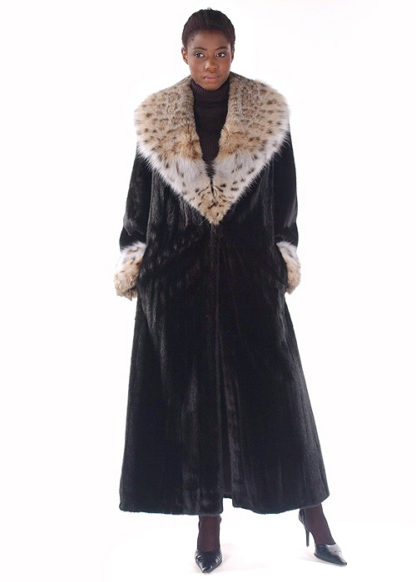 Mink Coat - Lynx Collar and Cuffs - The Superior