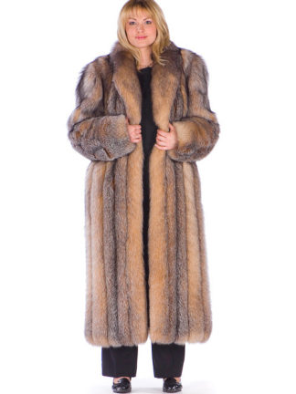 Plus Size Crystal Fox Coat 52""