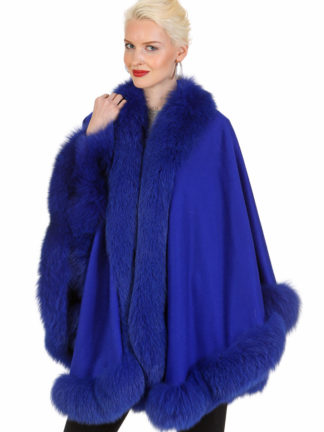 Royal Blue Cashmere Cape- Your Lady