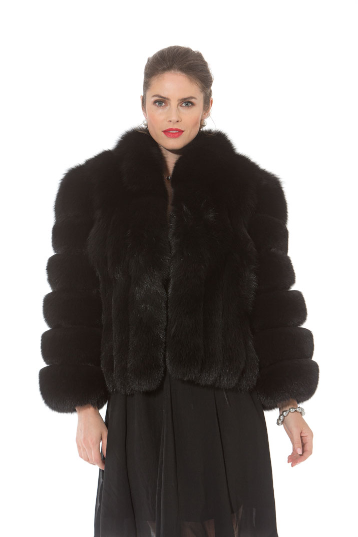 Black Fox Bolero Jacket - 22""