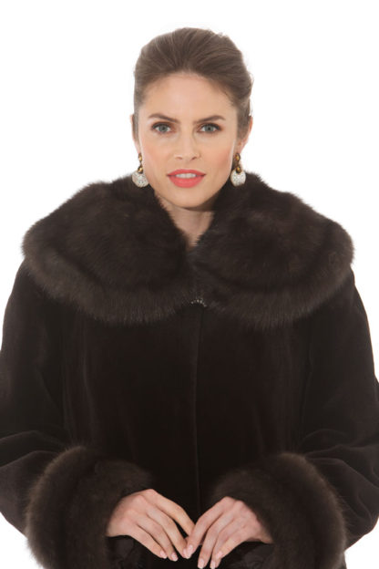 Sable - Sheared Mink Coat - Directional Designs - Soft Splendor
