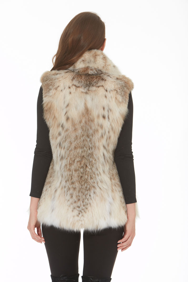 Canadian Lynx Vest - Wing Collar