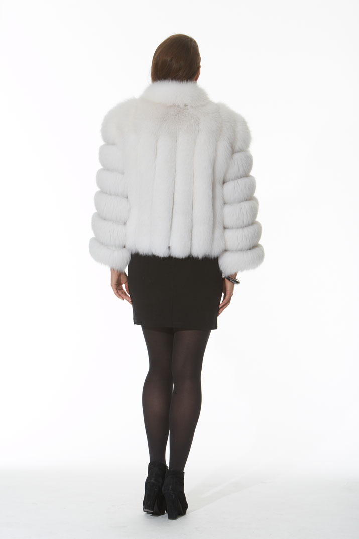 White Fox Bolero Jacket -The Marilyn