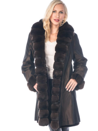 Reversible Chinchilla and Sheared Mink 3/4 Coat