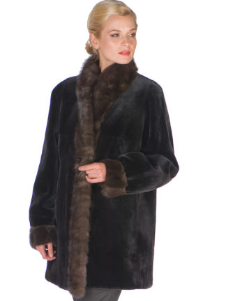 Reversible Sheared Mink Jacket- Sable Trimmed