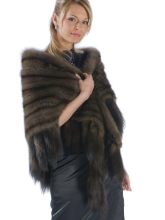 Sable Fur Stole - Russian Sable Fringed Fur Stole