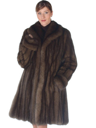Russian Sable Fur Jacket - Wing Collar