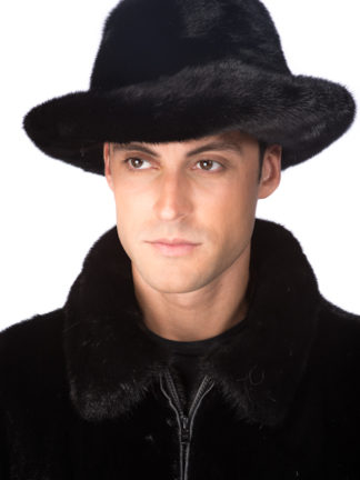 Mens Mink Fur Hat - Mens Mink Fedora Hat